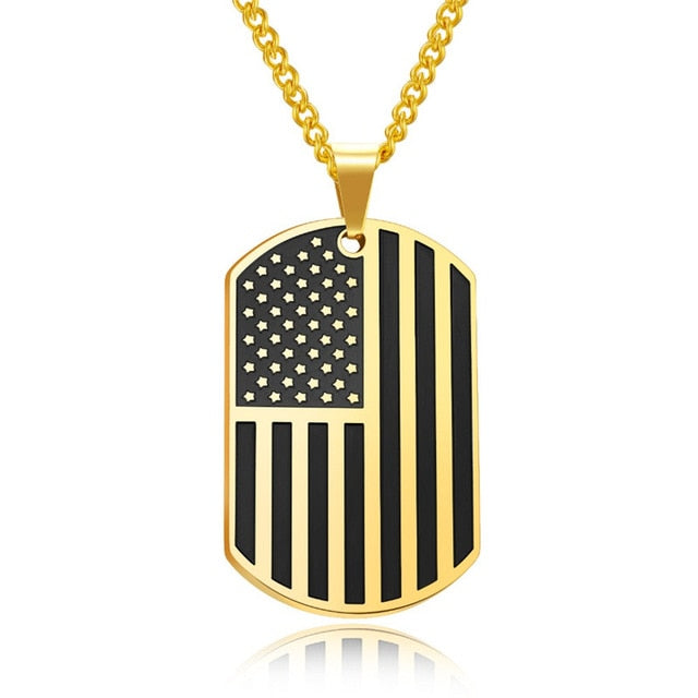 USA Patriot Freedom Stars Necklace