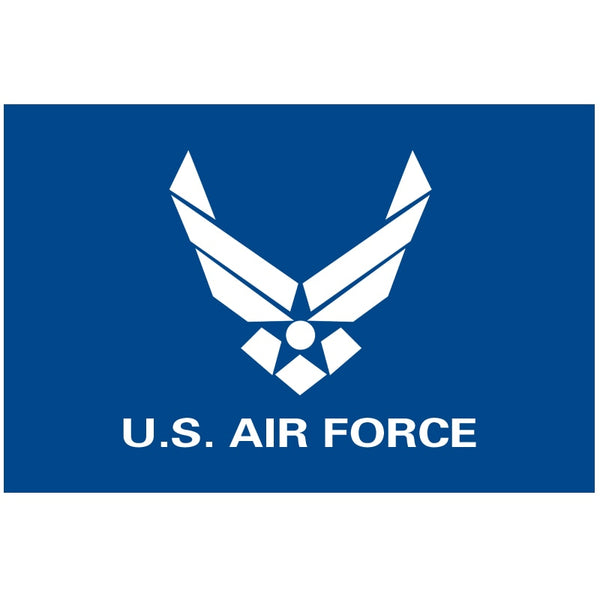 Free shipping 90 x 150cm  USAF United States Air Force Blue Wings Logo Flag 3ft x 5ft Polyester Banner   custom flag