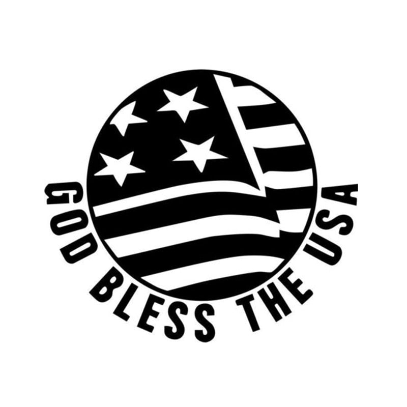 God Bless USA Symbolic Decal Sticker