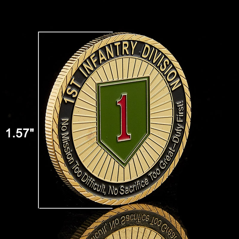 USA Challenge Military Army 1st Infantry Division Coin Collection