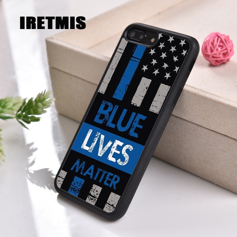 Blue Lives Matter Soft TPU Silicone iPhone Case