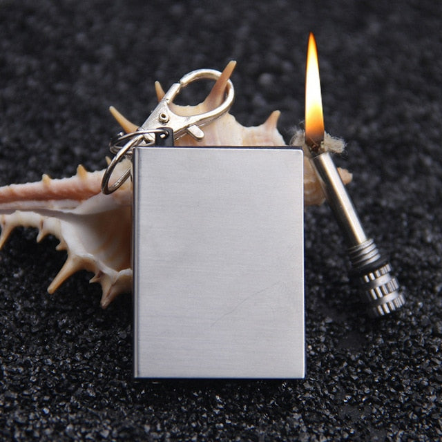 Endless Match Gasoline Lighter Keychain