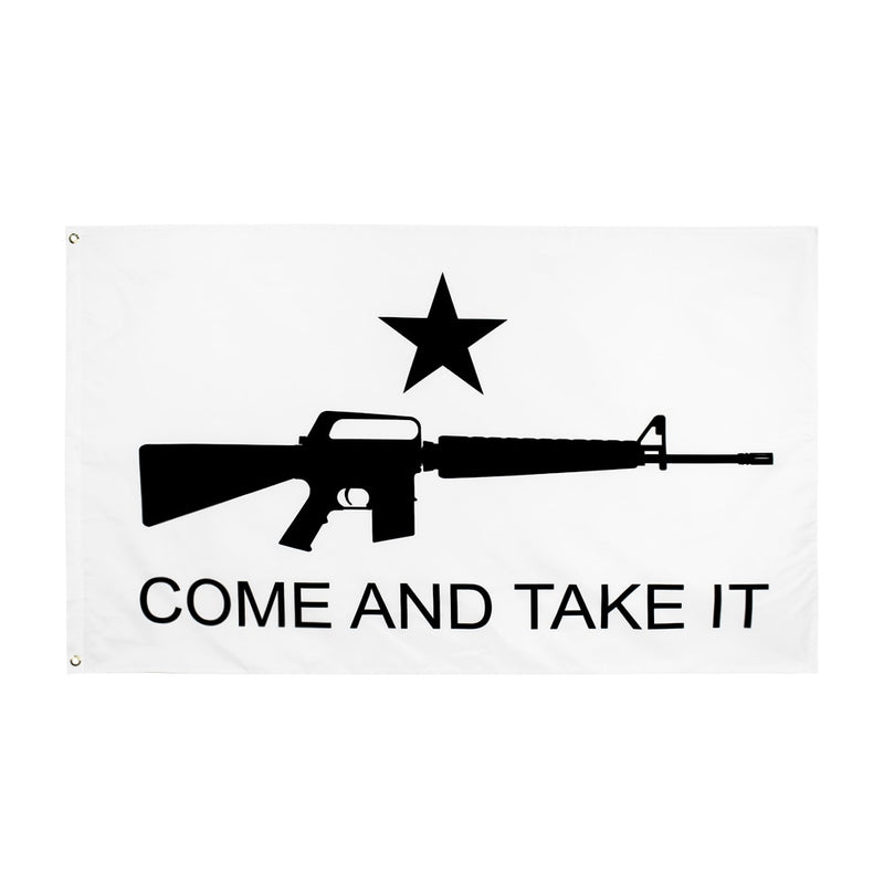 Come And Take It M4 Carbine Gun Flag Banner