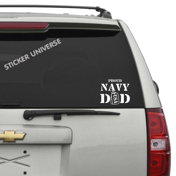 Proud Navy Dad Vinyl Die Cut Decal