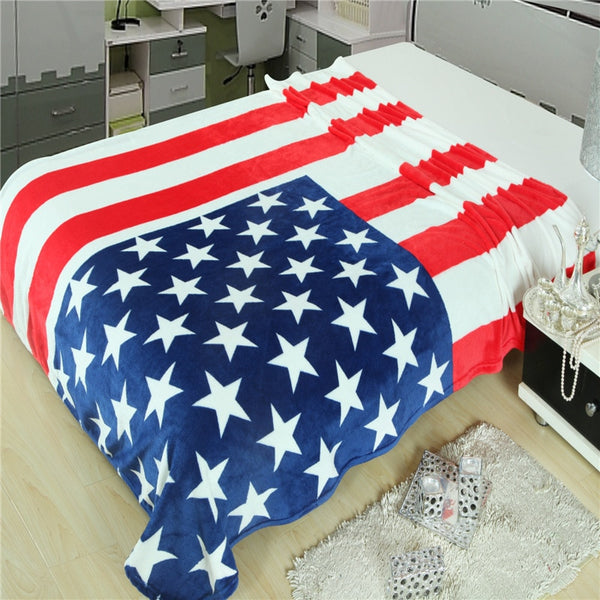 Multifunction Stars & Stripes Blanket 150*200cm
