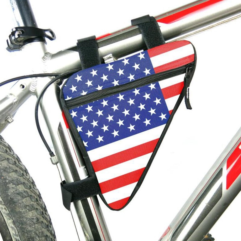 Waterproof American Flag Saddle Bag Holder