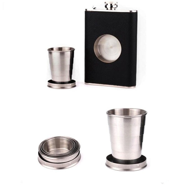 Creative 8 Oz Stainless Steel Folding Cup