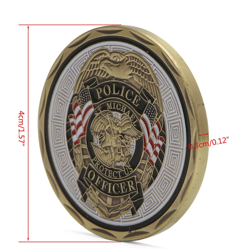 St Michael Police Officer Badge Commemorative Coin