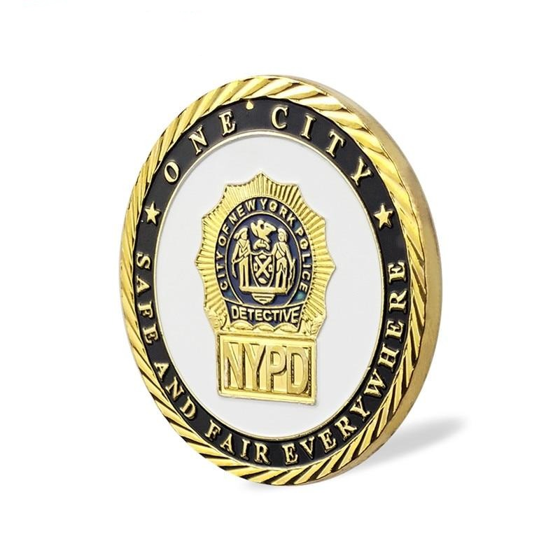 New York Police City Detective Gold Plated Commemorative Coin