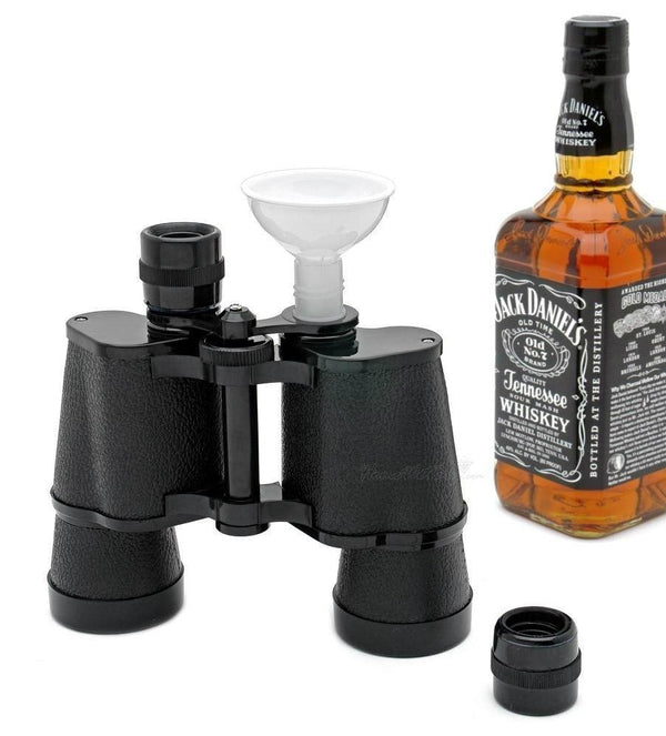 Double Sided Binocular Flask Travel Liquid Container