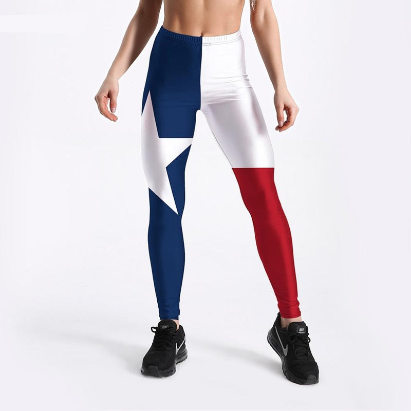Stars & Stripes Women Leggings Workout Spandex Pants