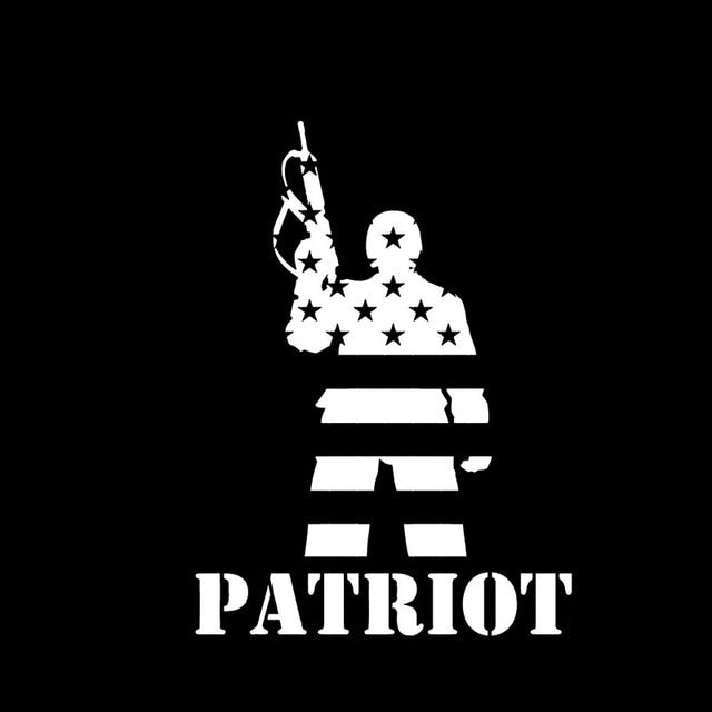 10.3*13.9CM American Dream Soldier Patriot Warrior Decal
