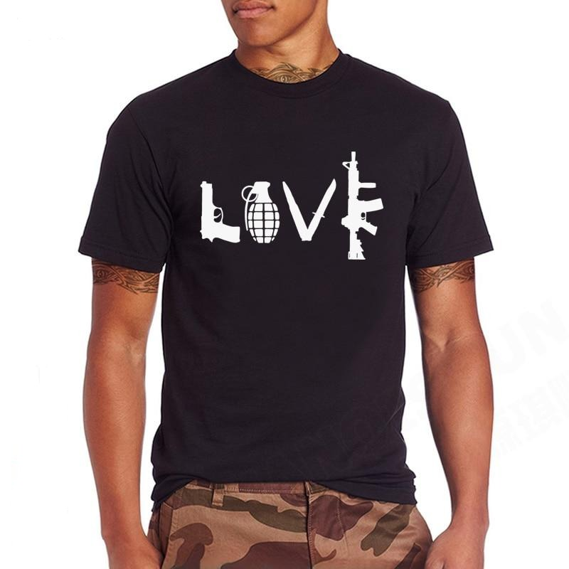 LOVE With Guns Men T Shirt