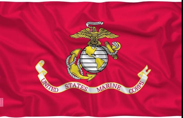 U.S. Marine Crops Red Banner Flag 3' x 5' FT