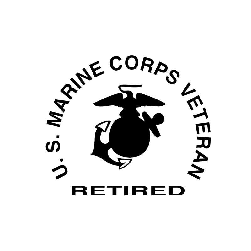 US Marine Corps Retired Veteran Decal Sticker