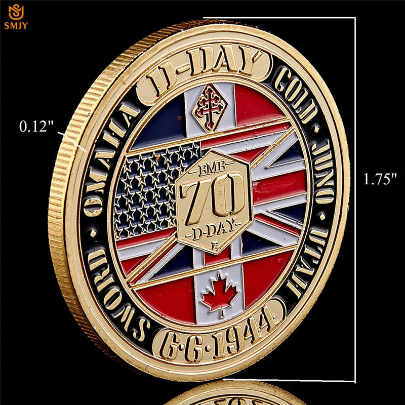 WW II 1944.6.6 D-Day Normandy Amphibious War 70th Anniversary Coin