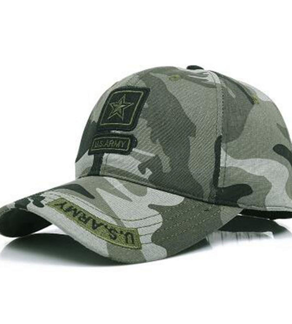 US Army Camouflage Adjustable Baseball Hat