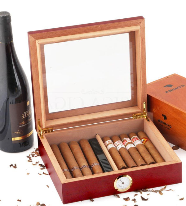Cedar Wood Travel Cigar Humidor Box With Humidifier