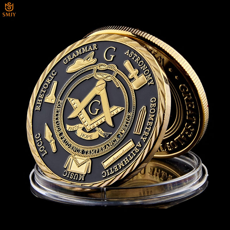 Euro Masonic Association Gold Plated Commemorative Coin