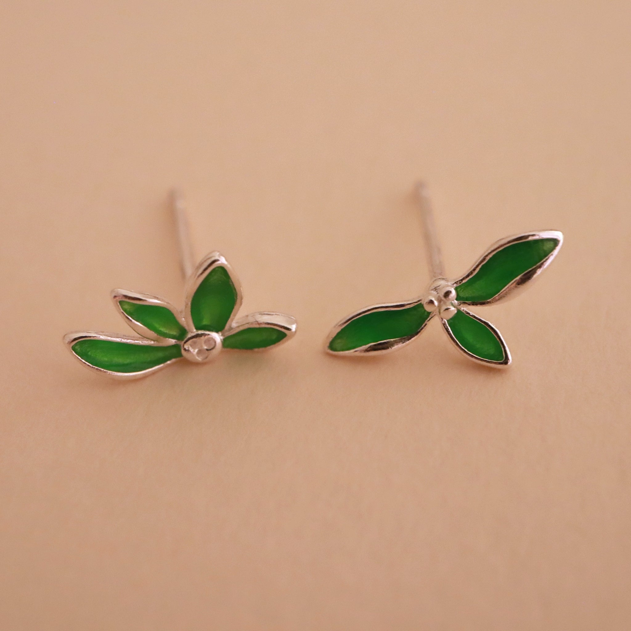 Green Leaves Earring
