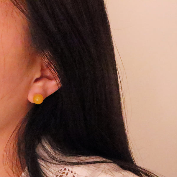 Yellow Ball Earring