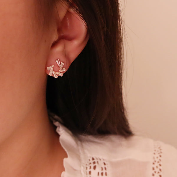 Circle Flower  Earring