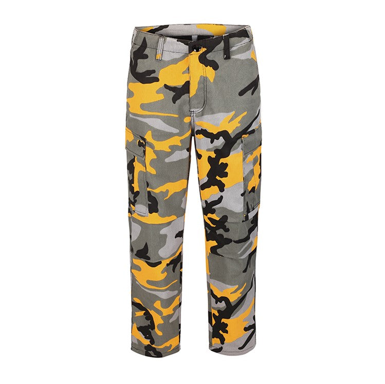 CAMO CARGO PANTS - YELLOW