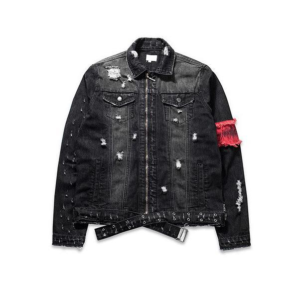DESTROYED ARM-BAND DENIM JACKET