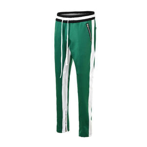DUAL STRIPED TRACKPANTS - WHITE/GREEN