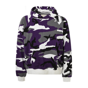 TERRY CAMO PULLOVER HOODIE
