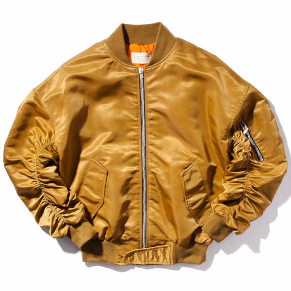RUCHED BOMBER JACKET