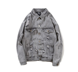BF.BORFEND DISTRESSED DENIM JACKET