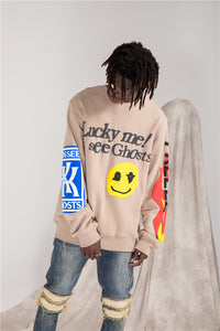 KIDS SEE GHOSTS - LUCKY ME CREWNECK SWEATSHIRT