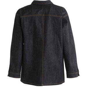 DUAL BREASTED ZIPPERED DENIM JACKET