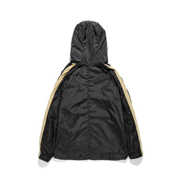FOG STRIPED NYLON WINDBREAKER