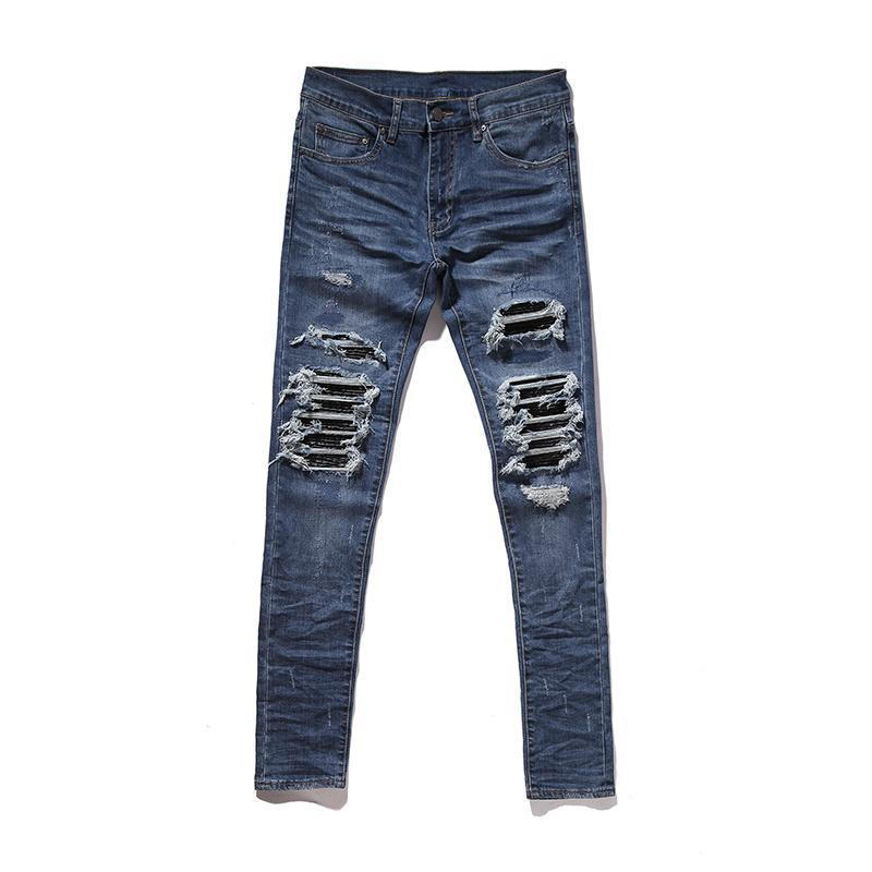 MX1 SKINNY DESTROYED DENIM