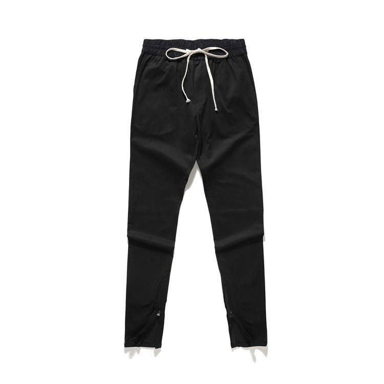 DRAWSTRING BLACK DENIM JEANS
