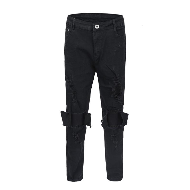 DESTROYED CHARCOAL DENIM