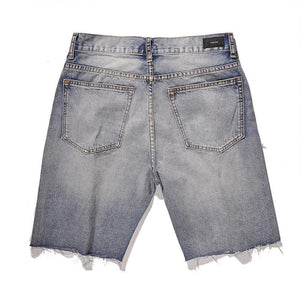 DISTRESSED DENIM SHORTS V2