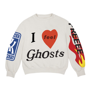 KIDS SEE GHOSTS - I FEEL GHOSTS CREWNECK SWEATSHIRT