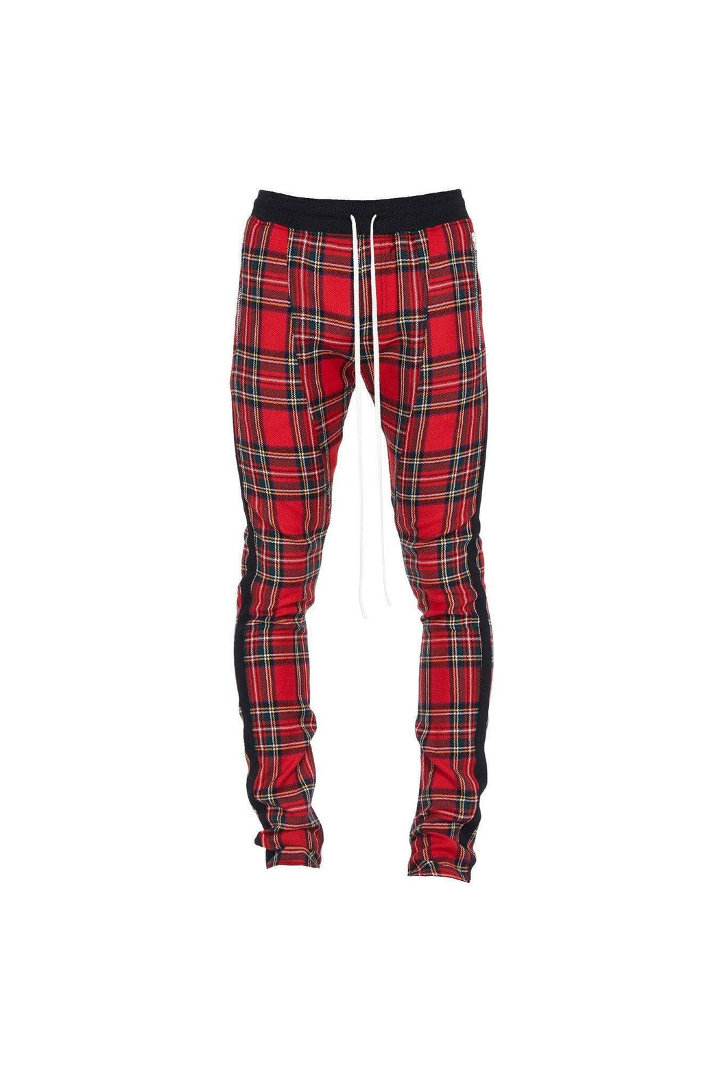 PLAID TRACK PANTS