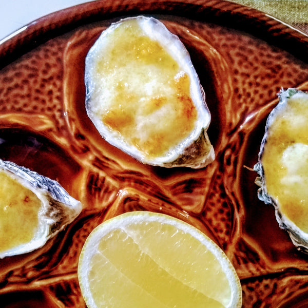 1 dozen Pacific oysters with Mornay grill topping - Shuck Oysters