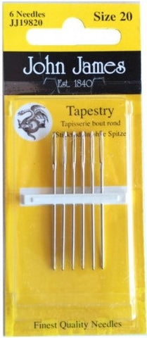 Tapestry needle size 20 (wo/point)