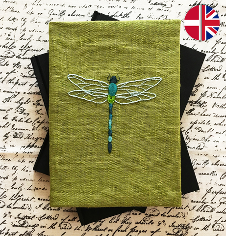 Embroidery kit: Dragonfly cover and Notebook