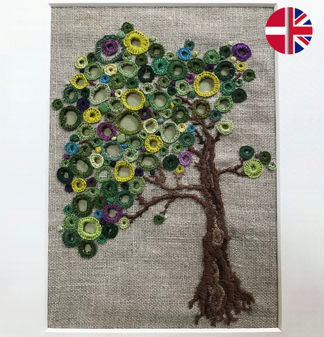 Embroidery kit: Eyelet tree
