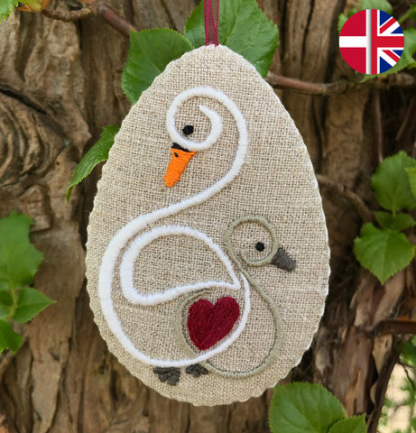 Embroidery kit: Swan egg