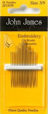 Embroidery needle size 3/9 (w/point )