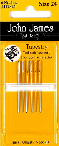 Tapestry needle size 24 (wo/point)