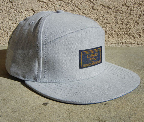 COATED GREY 5-panel