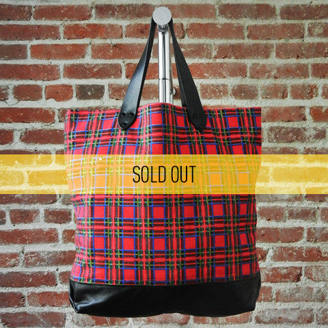 DEADSTOCK Canvas Tote / RED PLAID